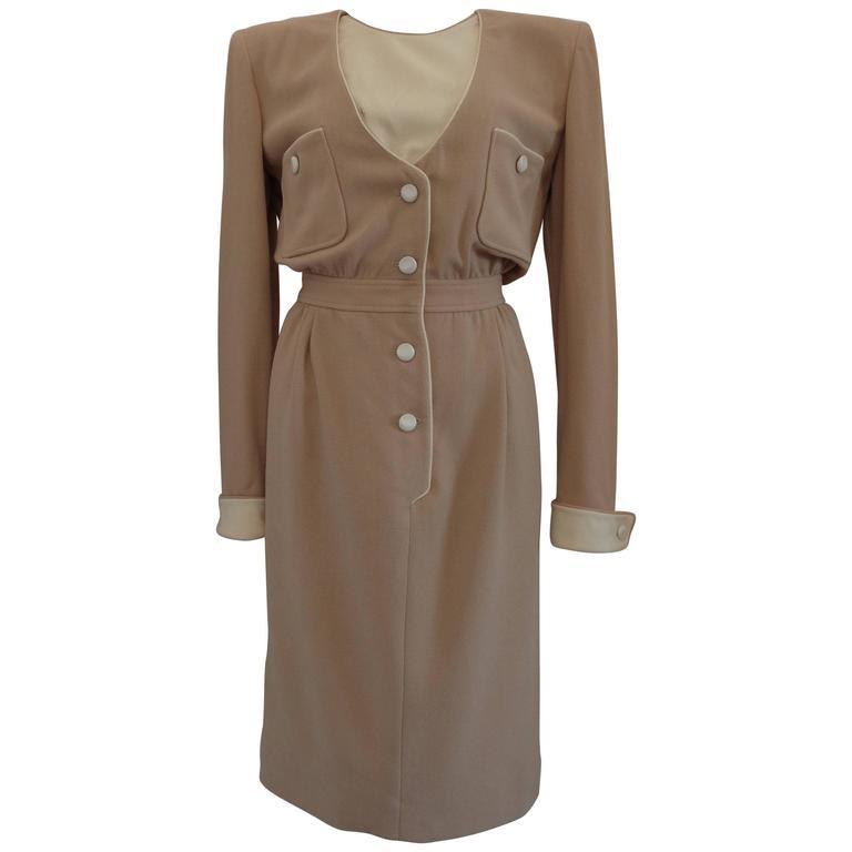1976 Valentino Beije Cream Dress