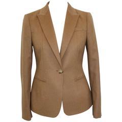Gucci camel cashmere blazer