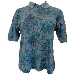Rare Guggio Gucci blu Cotton Shirt