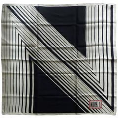 """Rare 1960s Norman Norell Silk Scarf 26x26"""""""