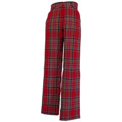 Kenzo Jungle tartan Wool Trouser