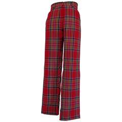 Kenzo Jungle tartan Wool Trouser