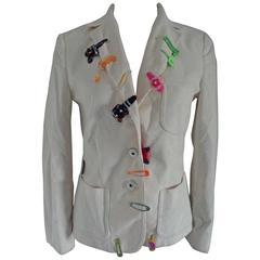 Moschino Jeans White cotton Jacket