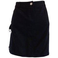 J.C de Castelbajac black Wool Skirt