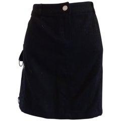 J.C de Castelbajac black Wool Skirt