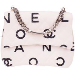 Chanel Printed Jersey Bag 1996-1997 - black & white