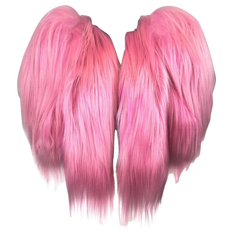 "F/W 2009 Dolce & Gabbana ""Special Piece"" Pink Goat Fur Shaggy Crop Jacket"