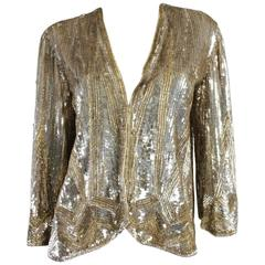 1930's Gold Sequined Jacket Made in France