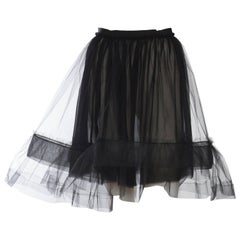 Lanvin Sheer Tulle and Chiffon Skirt