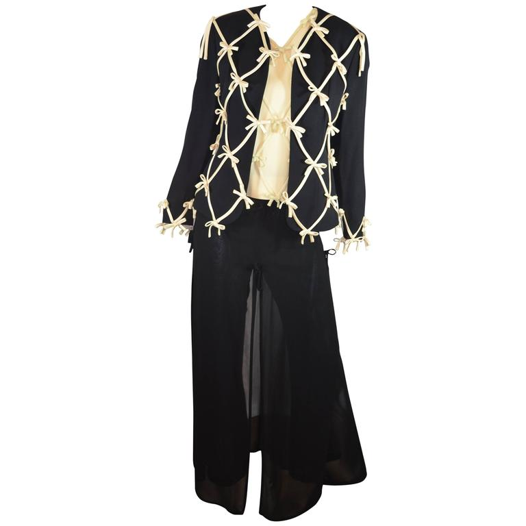 Moschino Cheap and Chic Bow Embellished Pants Suit