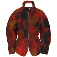 Thierry Mugler Hand-Dyed Wool Avant Garde Jacket
