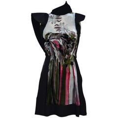 Balenciaga  Nicolas Ghesquière  Runway 2010 Silk Ikat Print Dress  36