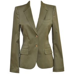 Gucci Army Green Blazer Jacket SZ 40  Mint