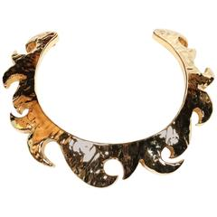 1990's CHRISTIAN LACROIX gilt collar