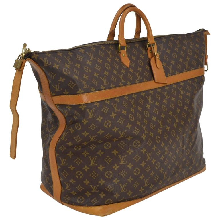 1980s Louis Vuitton Monogram Leather Holdall