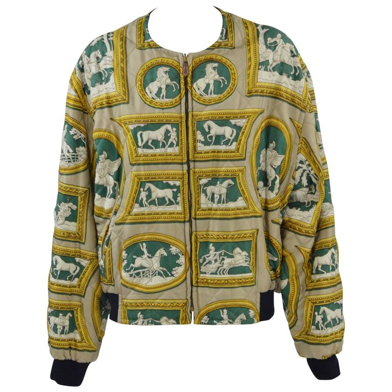 1980s Hermès Reversible Silk Jacket