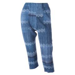 Issey Miyake Pleats Please Denim Look Pants