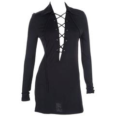 Tom Ford for Gucci Plunging Lace Up Tunic Top or Dress