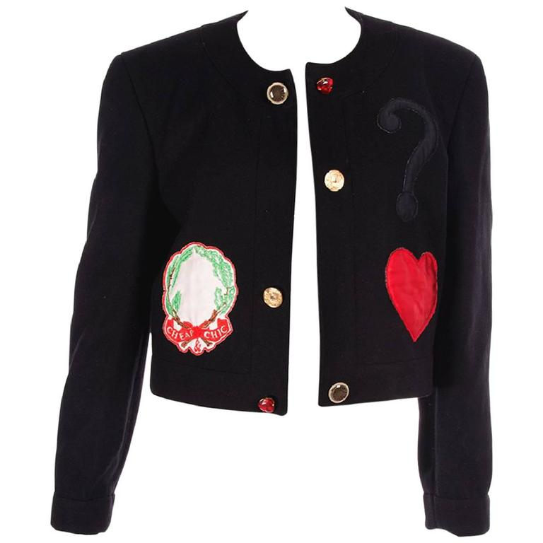 Moschino Cheap and Chic Applique Jacket 1