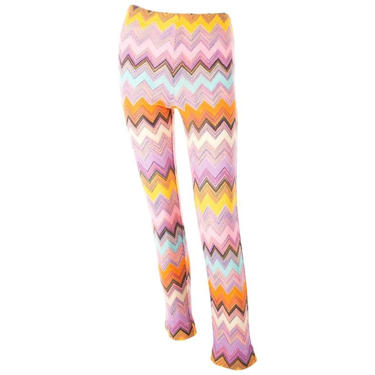 Missoni 90s Zig Zag Knit Pants 1