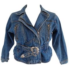 Versace Jeans Couture Denim Silver HW Cotton Jacket
