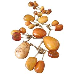 Vintage Natural Baltic Butterscotch Egg Yolk Amber Beads Necklace