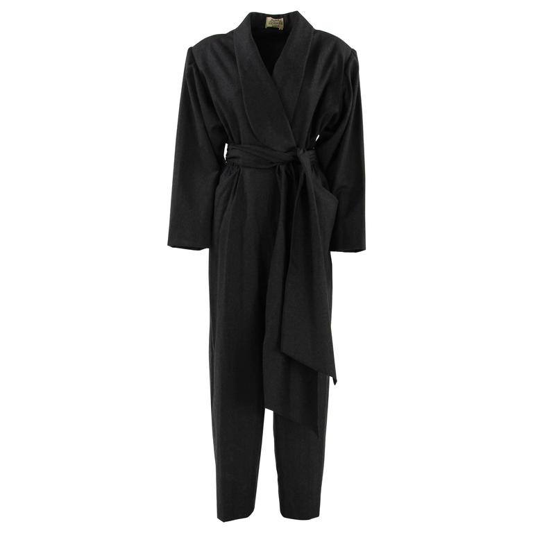 1980s Hermès Wool and Cashmere Jumpsuit