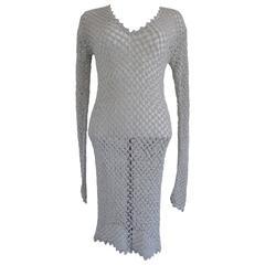 Antonio D'Errico Silver tone See through Dress