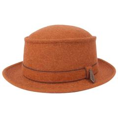 Motsch Paris for Hermes Felt Hat Orange Size 57
