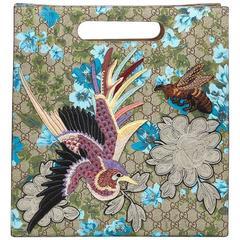 2016 Gucci GG Supreme Canvas XL Floral Print Tote