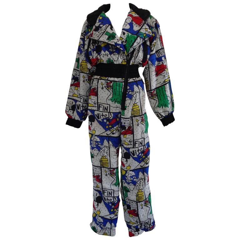 J.C de Castelbajac multicolour Jumpsuit  For Sale