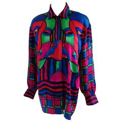 Escada by Margaretha Ley Silk Shirt