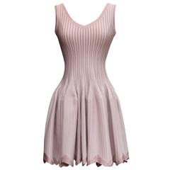 2000s Alaia Pink Skater Mini Dress
