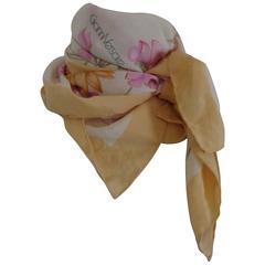 Gianni Versace Beije flower Silk Scarf Foulard