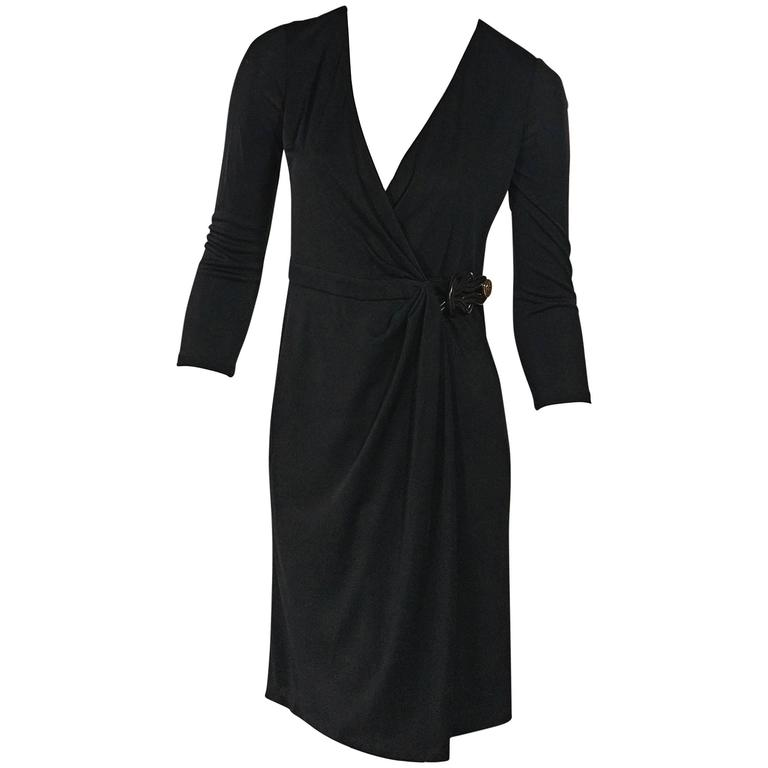 Black Gucci Wrap Dress For