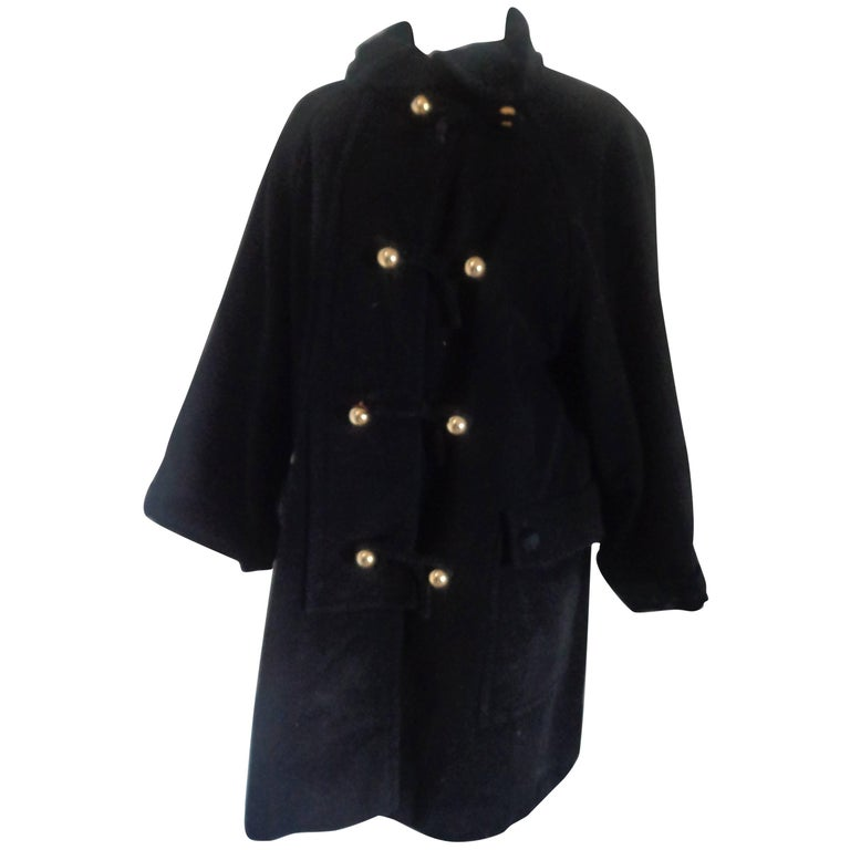 Moschino Cheap & Chic Black Wool Coat For Sale