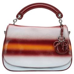 Christian Dior Maroon Mustard and Blue Gradient Grained Calfskin Dune Bag 2015s