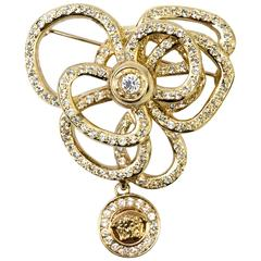 1990s Versace Flower Brooch