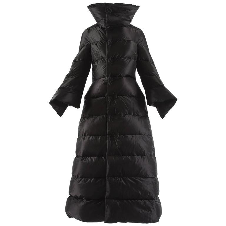 Junya Watanabe Autumn-Winter 2009 black puffer duvet coat dress