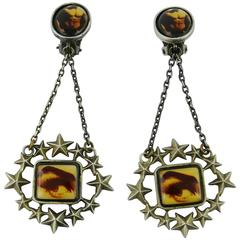 Jean Paul Gaultier Vintage Novelty Dangling Earrings