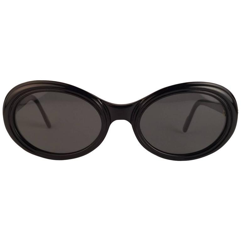 Cartier Frisson Black Medium Sunglasses 18k Gold France 1991 1