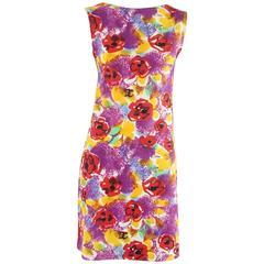 Chanel Multi Floral Print Spandex Dress - 36 - 1997