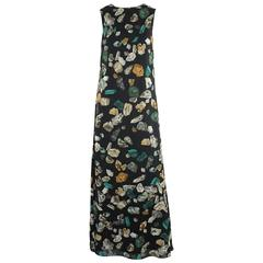 """Hermes New Runway Black Stone """"Mineraux"""" Maxi Dress - 36 - rt. $5,150"""
