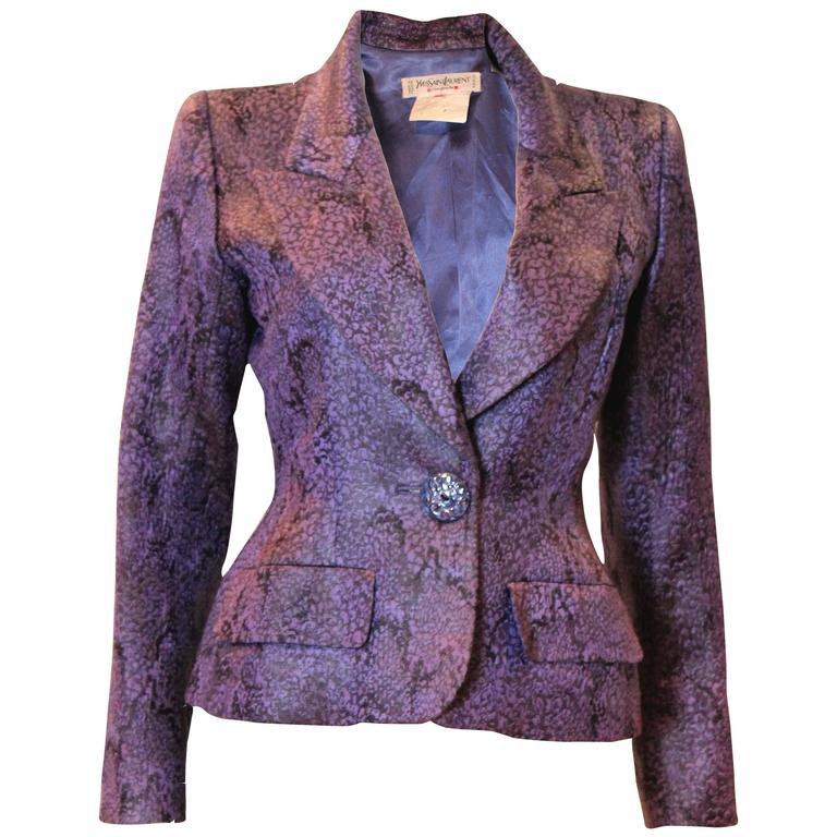 1970s Lilac and Black Jacket