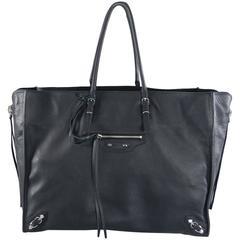 Balenciaga Papier A4 Black Zip Around Tote Bag