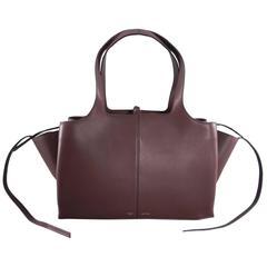 Celine Burgundy Trifold Bag 2016 collection