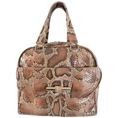 Jimmy Choo Python Justine bag in nude, peach, blush