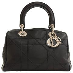 Christian Dior Granville Black Quilted Leather 2Way Bag