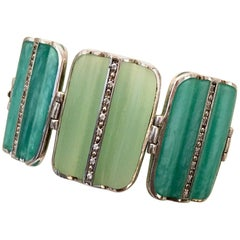Miriam Salat Bracelet - Sterling Silver - Lucite
