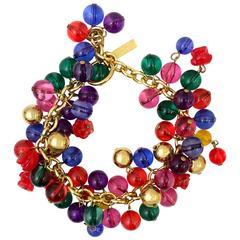 Gianni Versace multicoloured glass beaded bracelet, 1990s